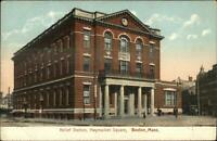 Boston MA Relief Station Haymarket Square c1910 Postcard