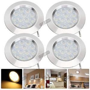 4x Interior LED Spot Light 12V Downlight For Camper Van Caravan Boat Warm White