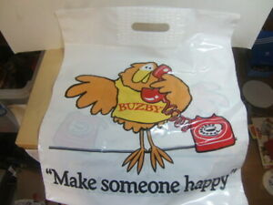 Buzby – Make Someone Happy – Post Office Telecommunications Carrier Bag c1980