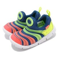 Nike Dynamo Free SE TD Blue Green Yellow Toddler Infant Baby Shoes AA7217-400
