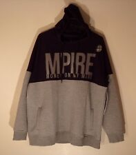 NWT MEN'S 4XL 5 BY 5 BY MASTERPIECE GRAY BLK L/S P/O HOODIE HOODED SWEAT #1032