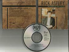 RICK ASTLEY Giving Up On Love 1989 USA PROMO Radio DJ CD single 88722rdj