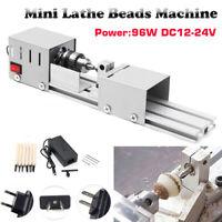 96W Mini Beads Machine Miniature Lathe DIY Woodworking Beads Wood Working Tool