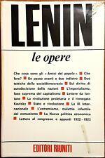 Vladimir Ilic Lenin, Opere scelte, Ed. Riuniti, 1976