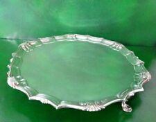 Thomas Heming Georgian Antique English Sterling Silver Salver London 1750
