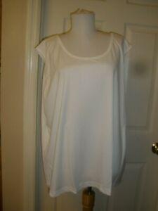 NEW Women's 3X Vicki Wayne's 100% Polyester White Camisole(H5)