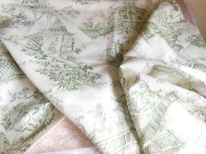 Vintage GP & J Baker Oriental Scene Fabric Sample/Remnant - Chinoiserie