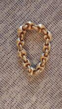 """Italian 14K Yellow Gold 8"""" Fancy Link Chain Bracelet"""