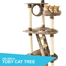 Large 7 Level Adjustable Height 250cm Cat Tree Furniture Scratch Post RRP $219