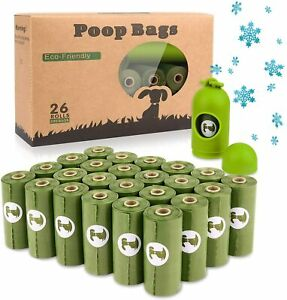Dog Poo Bags x 390 Bags / 26 Rolls with 1 Dispenser - Biodegradable Waste Bags