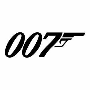 James Bond, Logo, 007, Car, Van, Pick Up, Wall, Door, Vinyl, Decal, Sticker.