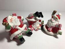 Fitz and Floyd Christmas Mingle, Jingle, Be Merry Santas