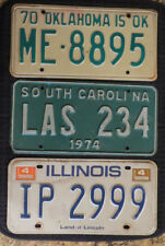 3 UNIQUE State License Plates 70s & 80s VINTAGE! Crafts! Collectible! FREE SHIP!