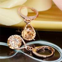 Elegant Lady CZ Crystal Rhinestone Earrings Gold Star Ear Studs Party Jewelry