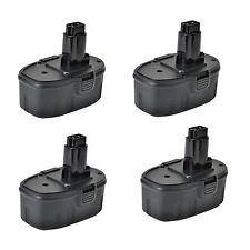 4x 18V 2000mAh Battery for DEWALT DE9095 DE9098 DW9095 DW9098 DC927 DW059 DW989