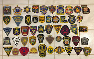 Lot of ALL 50 US State Police, Patrol, Highway, Sheriff, Trooper, etc. patches