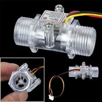 """G1/2"""" Sensor Flow Meter Switch Hall Effect Measuring Counter 1-30L/min Tools"""