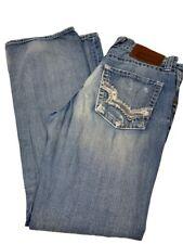 Big Star Pioneer Men's Size 32 R Denim Jeans Boot Cut Pants Blue Distressed