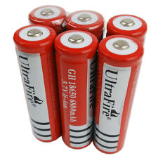 6X 18650 6800mAh 3.7V Li-ion Rechargeable Battery for Flashlight Torch Light