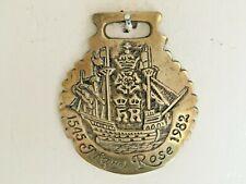Vintage Heavy MARY ROSE 1545-1982 Maritime Horse Brass Cast By John E Ellis