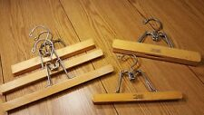 lot of 5 vintage hangers for pants skirts 2 setwell 3 unbranded
