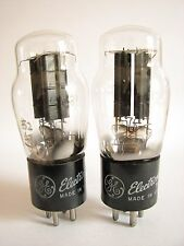 2 matched 1953-54 GE 80 rectifier tubes - TV7D tests@ 52/47, 53/49, min:40/40