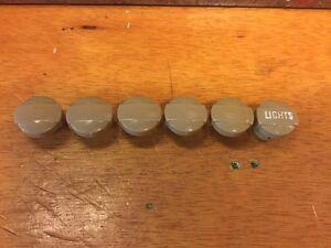 X%6 OLD DASH SWITCH KNOB SET HEADLIGHT HEATER FOG LAMP ART DECO RAT ROD HOT SCTA