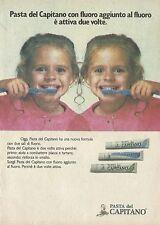 X2057 Dentifricio PASTA DEL CAPITANO - Pubblicità 1986 - Advertising