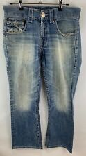 USED MENS TRUE RELIGION Denim Jeans Size: 30 Row 30 Seat 34 Denim Made in USA