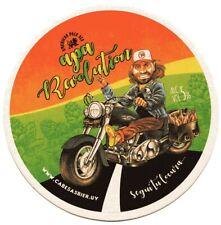 """Uruguay beer coaster Cabesas Bier """"Apa Revolution"""""""