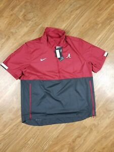 Nike Alabama Crimson Tide XL Short Sleeve 1/4 Zip On Field coaches Jacket