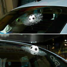 3D Crazy White Football Hit Window/Body Creative Car Sticker Window Soccer Decal