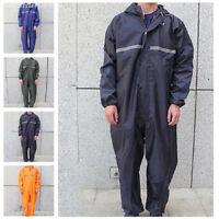 Motorcycle Rain Suit Raincoat Overalls Waterproof Mens Work Jumpsuit Outdoor Lot