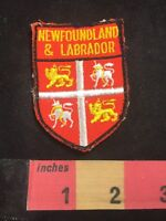 Vintage Coat Of Arms Theme - Newfoundland & Labrador Canada Patch 87NB