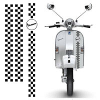 Vespa strisce quadri adesivi scooter scontornate sticker pvc cropped 3 pz.