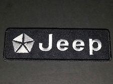 MOTORSPORTS MOTOR RACING SEW/IRON ON PATCH:- JEEP (f) BLACK STRIPE (a)