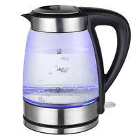 Grafner Glas Wasserkocher 1,7 L LED Beleuchtung Edelstahl 2200 W 1.7 Liter