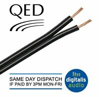 10m of Black QED 42 Strand Oxygen Free Copper (OFC) HiFi Speaker Cable