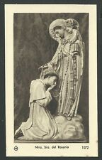 Estampa antigua de la Virgen del Rosario andachtsbild santino holy card santini