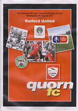 Quorn v Retford United - FA Cup Extra Preliminary Round Replay - 09/08/17