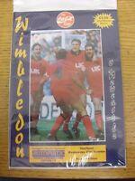 27/10/1993 Wimbledon v Newcastle United [Football League Cup] . Footy Progs/Bobf