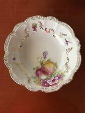 PM Porcelain Vintage Serving Dish / Bowl Bavaria Floral Gold Trim