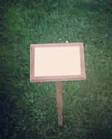 wooden memorial stake with free engraved plaque grave marker ashes burial