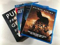 Lot of 4 Blu-ray Disc Movies The Dark Knight Batman Begins Social Network Greek