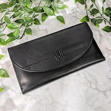 Vintage Classic ANNE KLEIN II Black Genuine Leather Wallet (GREAT)