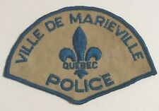 "vintage ""QUEBEC (VILLE DE MARIEVILLE) POLICE"" PATCH~~CANADA LAW OFFICER canadian"
