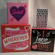 Valentine's Day Treat Gift Boxes/Set Of 4