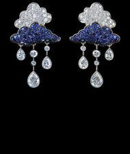 Cloud Rain Drop Earrings Handmade Pear Round Solid 925 Sterling Silver Gift New