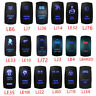 Auto Car Accessories Laser 12V 20A Toggle Rocker Switch Blue LED Bar Light Lamp