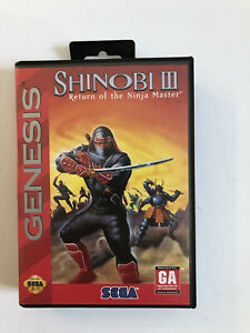 Shinobi 3 III (Sega Genesis) -  CIB, Authentic